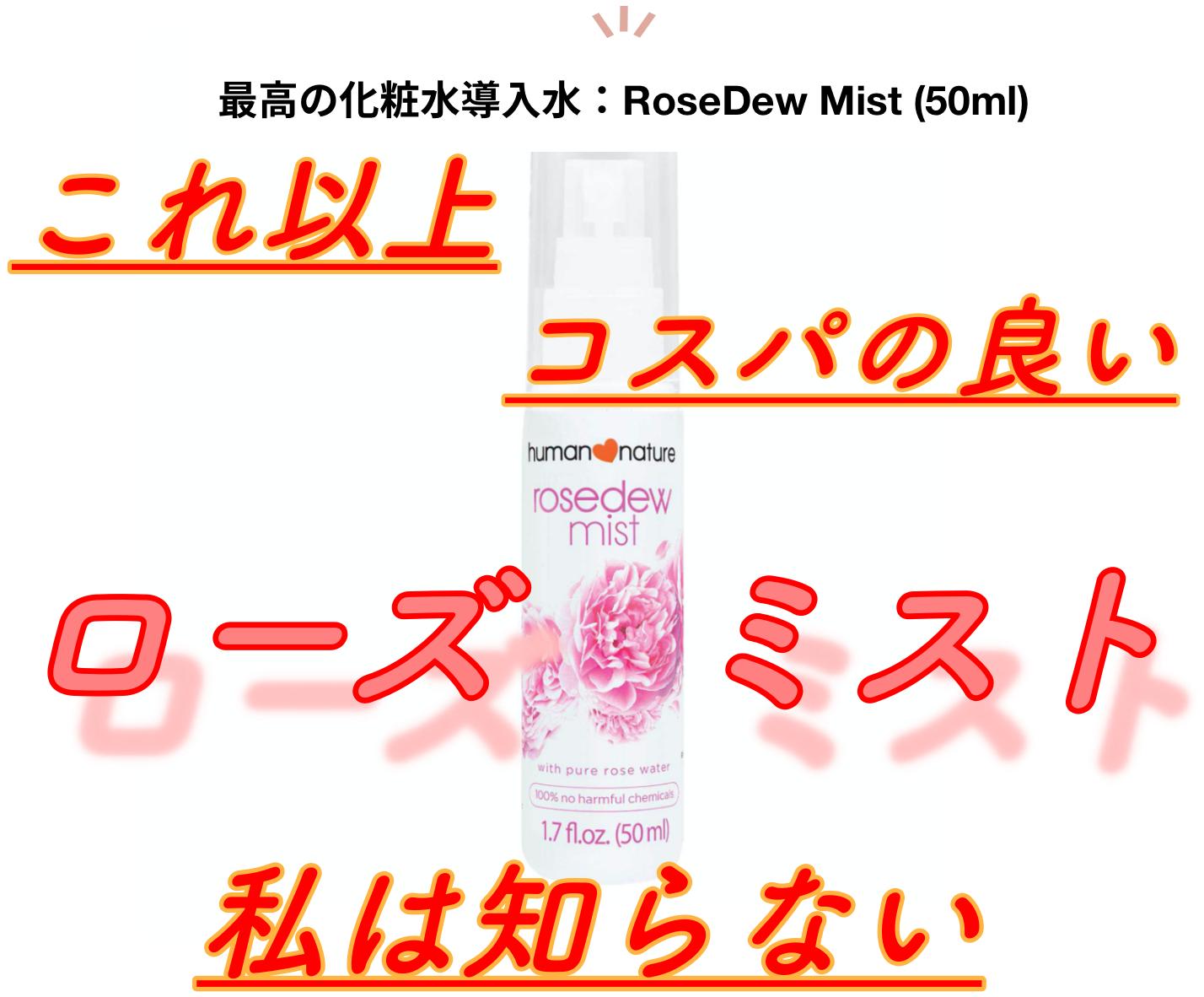コスパ最高の化粧水導入液、現る:Rose Mist:その1